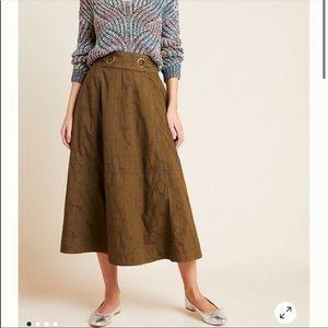 NEW Anthropologie Bella MIDI Skirt Size 2
